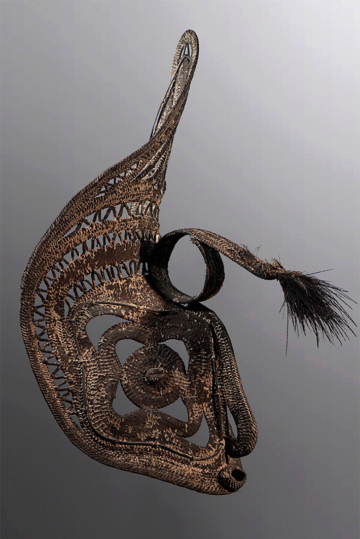 Old Large Ceremonial Yam Mask ~ Price On Application