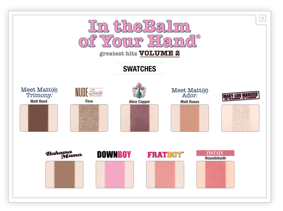The Balm In theBalm of Your Hand Palette