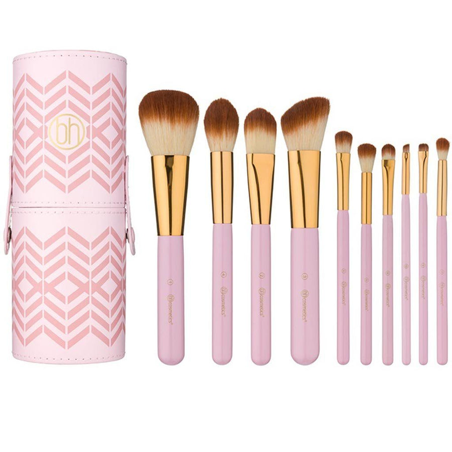 Bh Cosmetics Pink Perfection 10 Piece Brush Set
