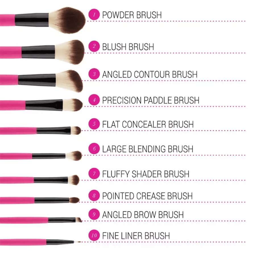 Bh Cosmetics Weekend Festival 10 Piece Brush Set