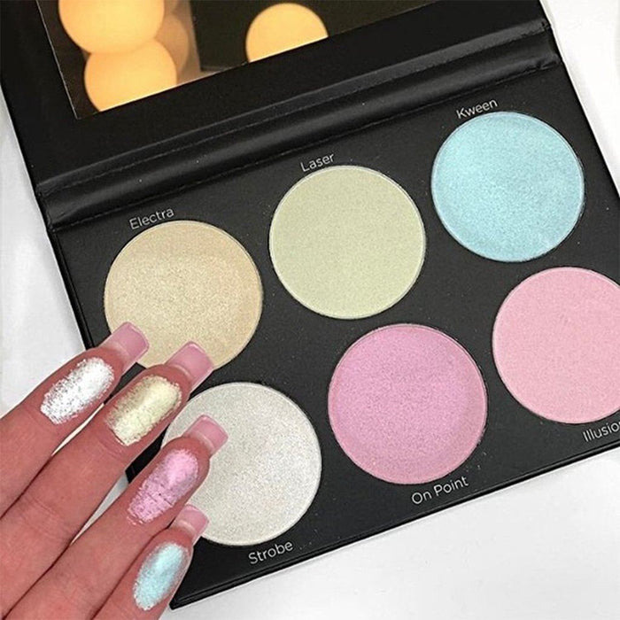 Bh Cosmetics Blacklight Highlight - 6 Color Palette - Klosmic India