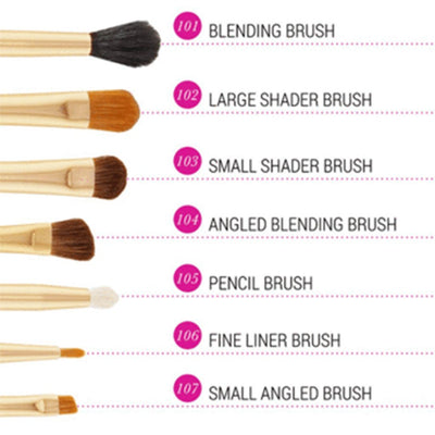 Bh Cosmetics Eye Essential 7 Piece Brush Set - Klosmic India