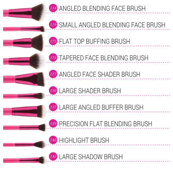Bh Cosmetics Sculpt and Blend Fan Faves - 10 Piece Brush Set - Klosmic India