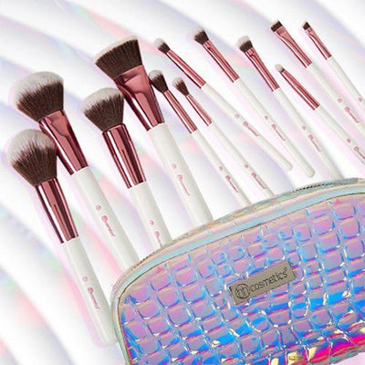 BH Cosmetics Crystal Quartz 12 Piece Brush Set - Klosmic