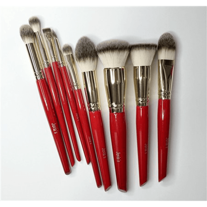 Juvia's Place 9 PCS Pro Red Brush Set - Klosmic India