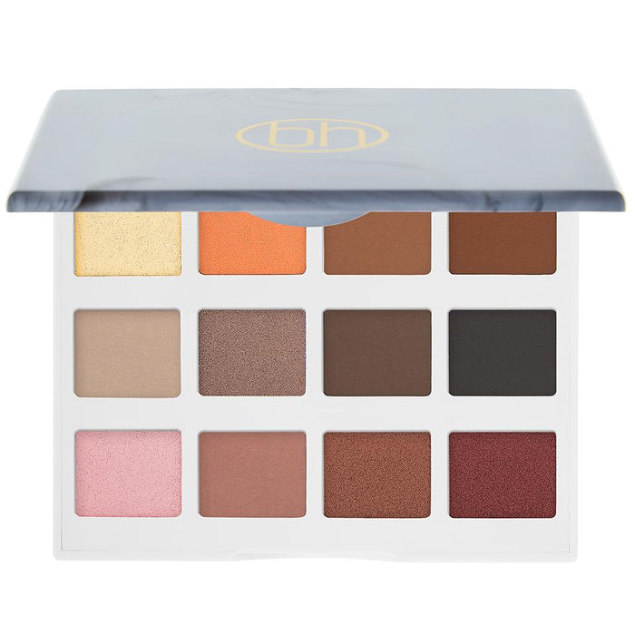 BH Cosmetics Marble Collection - Warm Stone - 12 Color Eyeshadow Palette - Klosmic India
