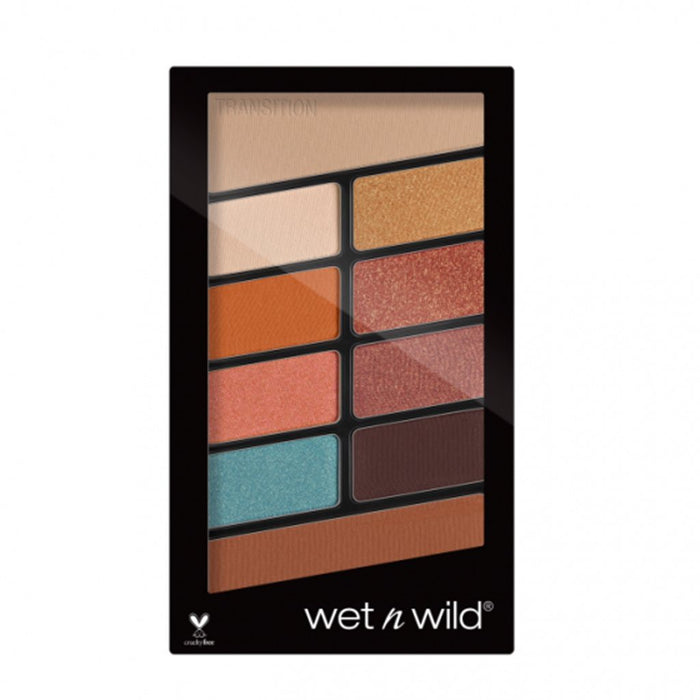 Wet n Wild Color Icon Eyeshadow 10 Pan Palette - Not a Basic Peach - Klosmic India
