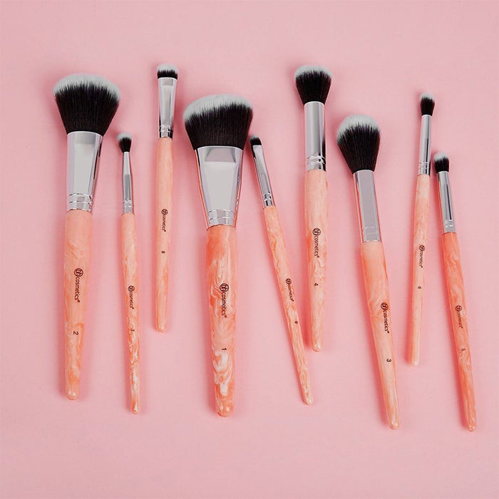 Bh Cosmetics Rose Quartz 9 Piece Brush Set - Klosmic