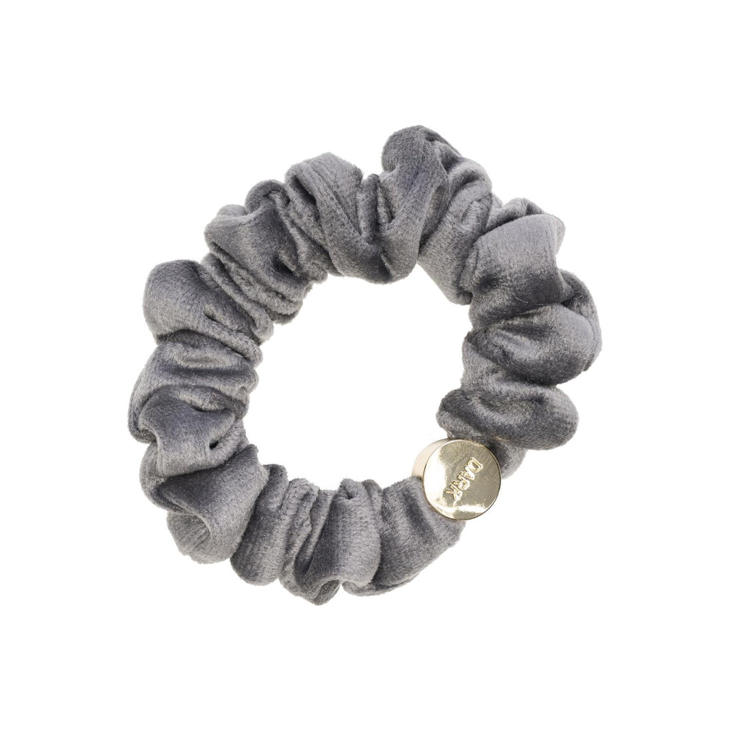 Velvet Mini Scrunchie Dark Grey