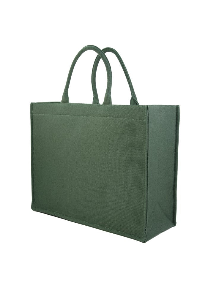 Tote Bag Canvas Bottle Green