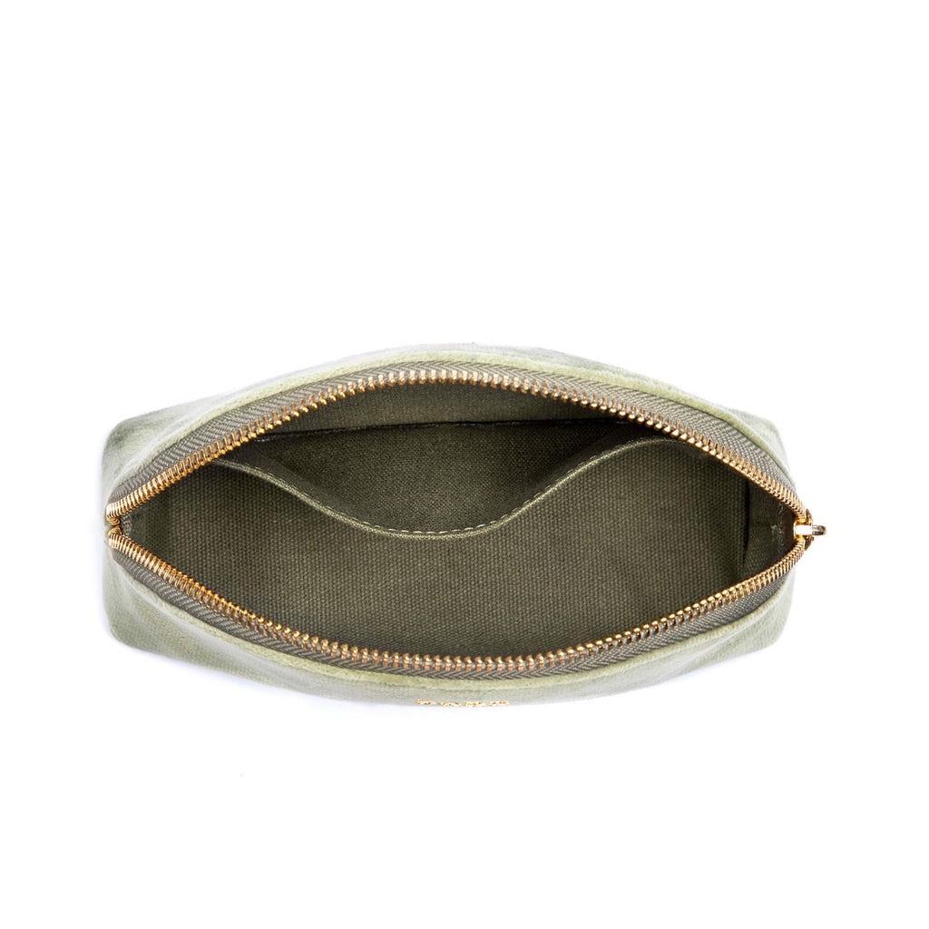 Velvet Makeup Pouch Faded Army