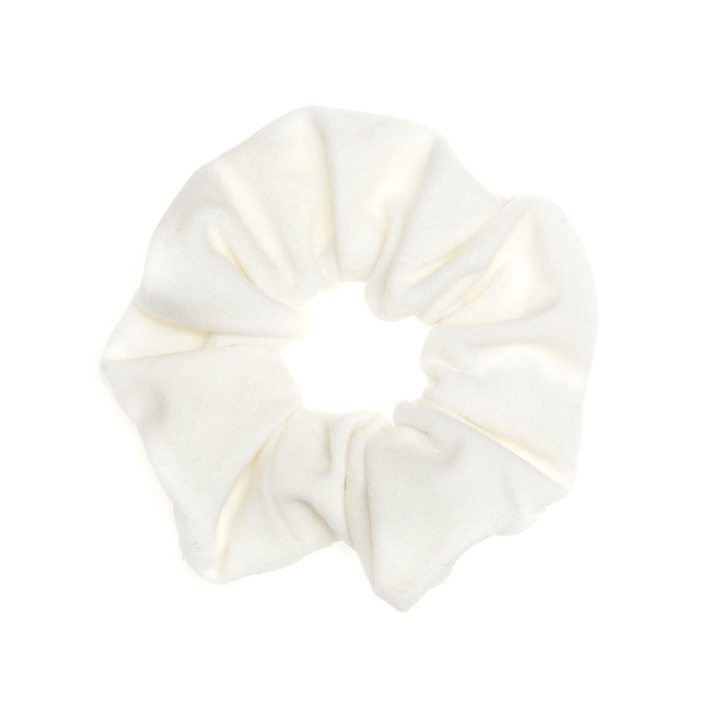 Velvet Scrunchie White
