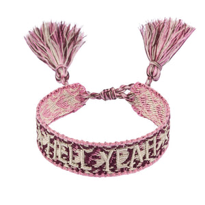 You added <b><u>Woven Bracelet Dusty Rose 'Hell Yeah'</u></b> to your cart.