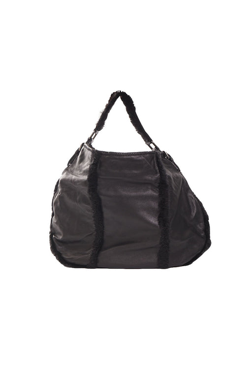 Kenneth Cole, Hobo Lambskin Shoulder Bag, Black
