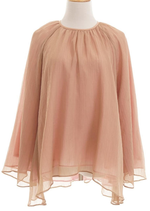Aere, Layered Long Sleeve Blouse, M, Dusty Pink