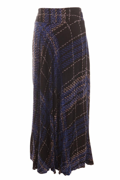 Etrucci, Printed Maxi Skirt, Size 38, Blue, Black