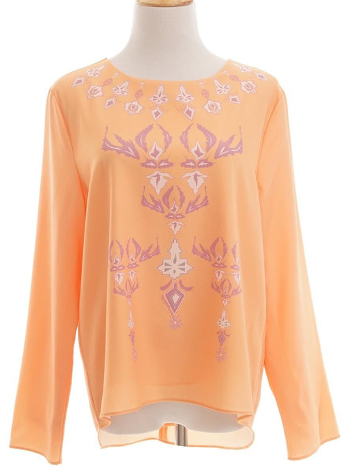 Mimpikita, Printed Long Sleeve Top, L, Orange