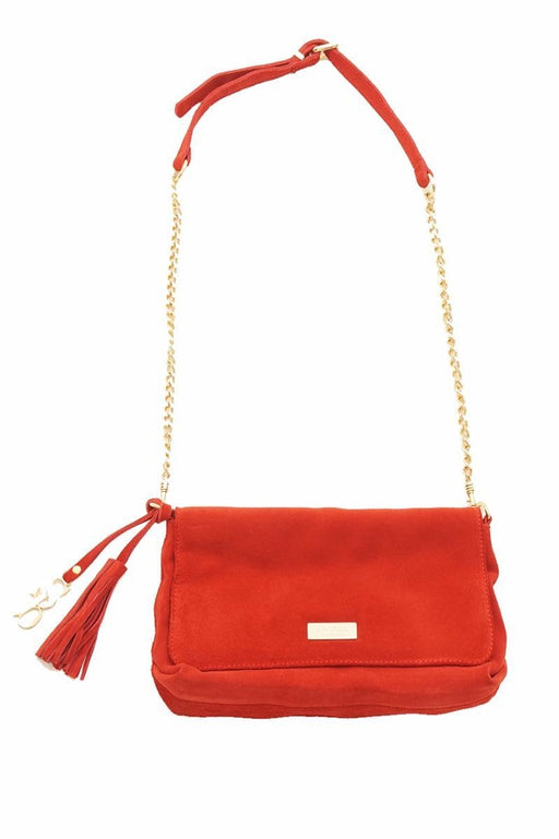 Sacoor Brothers, Evening Bag With Chain Sling, Red
