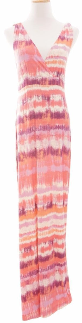 Calvin Klein, Maxi Crossover Printed Dress, S Size, Pink