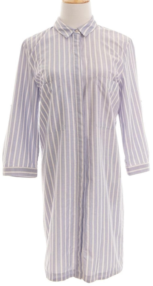 Zara, Stripes Blouse, M, Blue, White