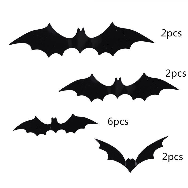 DIY PVC Black Bat Wall Sticker Decal Home 12Pcs / Set