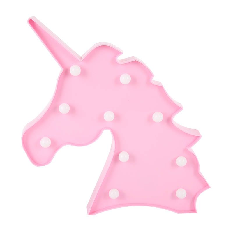 Unicorn Shaped LED Night Light Battery Operated