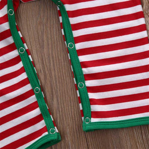 Rudolph Striped Christmas Romper for Baby Girls and Boys