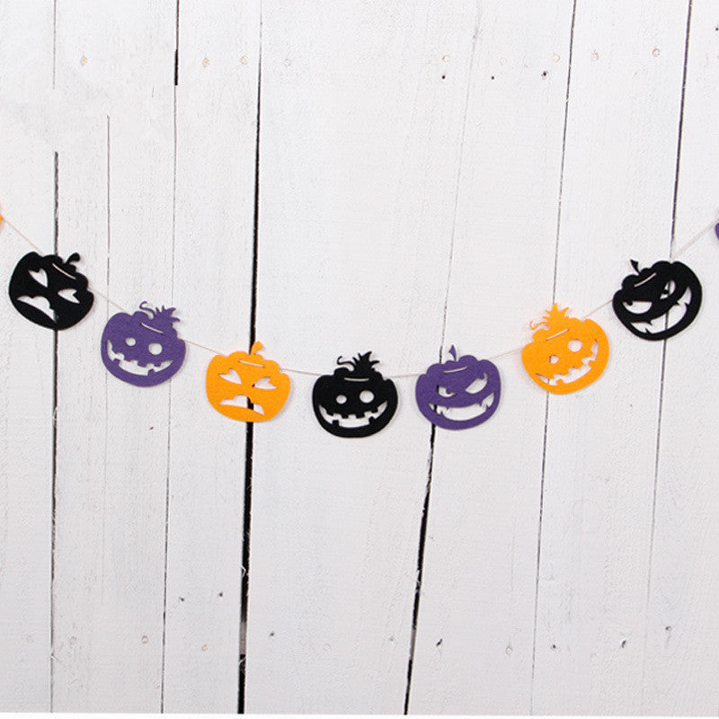 Decorative Halloween Banner and Flags in 3 Designs - Pumpkin