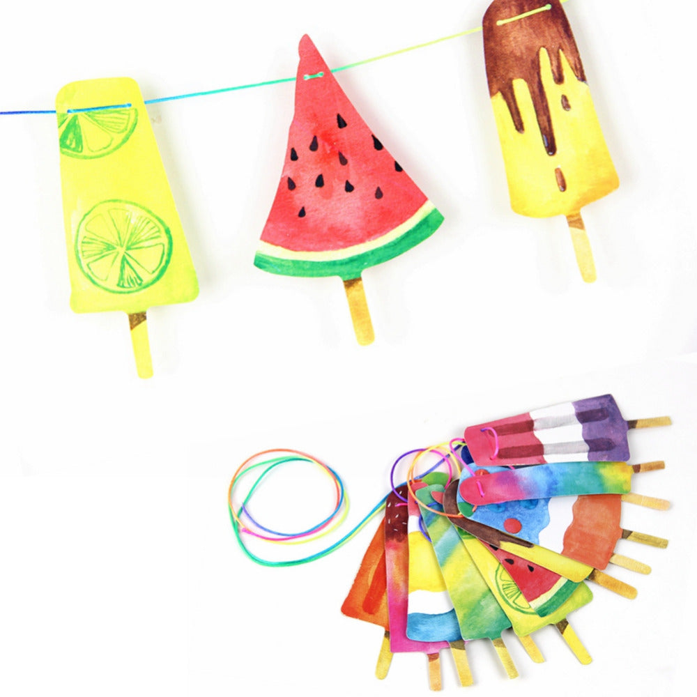 Colorful Popsicle Summer Party Ice Cream Banner