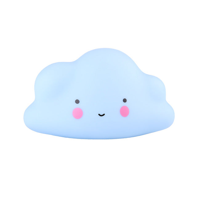 Adorable Night Lamp Light, Emitting Color - Blue Cloud