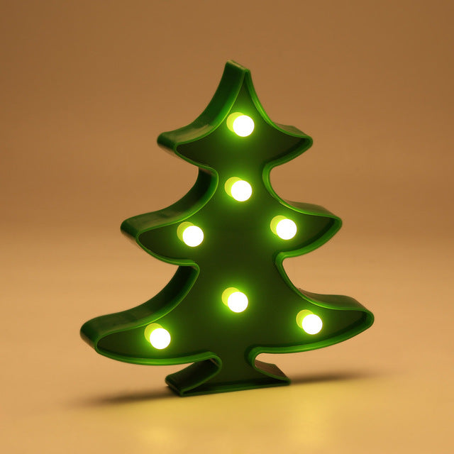 Christmas Tree Shaped LED Night Light Battery Operated