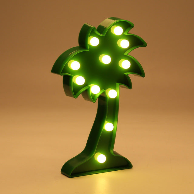 Palm Tree Shaped LED Night Light Battery Operated