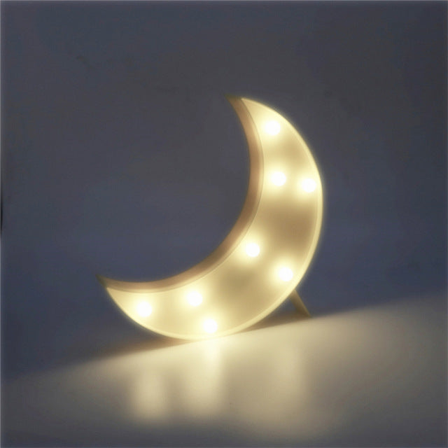 Crescent Shaped LED Night Light Battery Operated