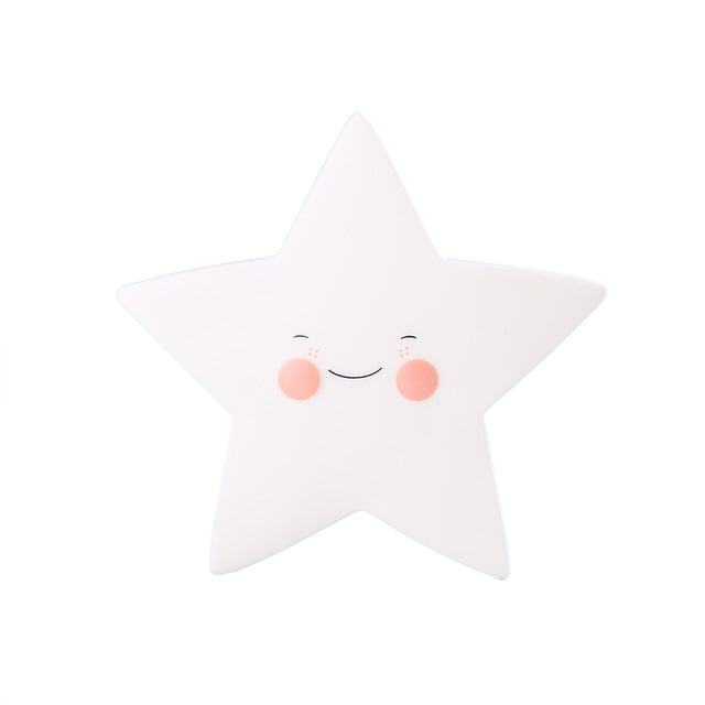 Adorable Night Lamp Light, Emitting Color - White Star