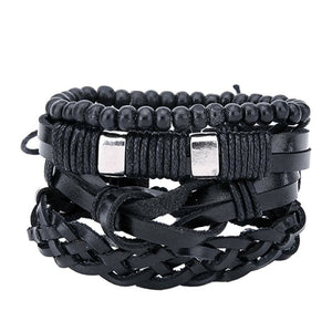 Lifestyle Leather Bracelet Set - lifestyleestore.com