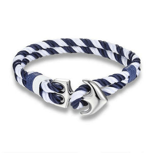 Lifestyle Nautical Rope Anchor Bracelet - lifestyleestore.com
