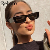 Vintage Small Pink Shades For Women Square Sunglasses 2021 Luxury Designer Rectangle Sun Glasses Female Nude Eyewear UV400|Women's Sunglasses|