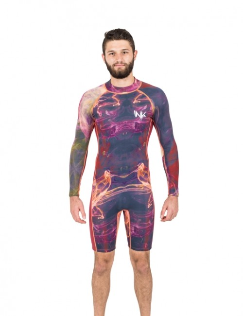 Long Sleeve Flatlock Spring Suit | Ember