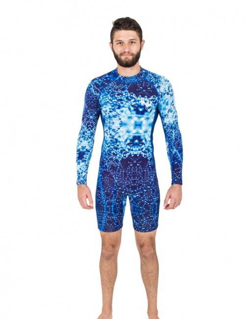 Long Sleeve Flatlock Spring Suit | Vapour