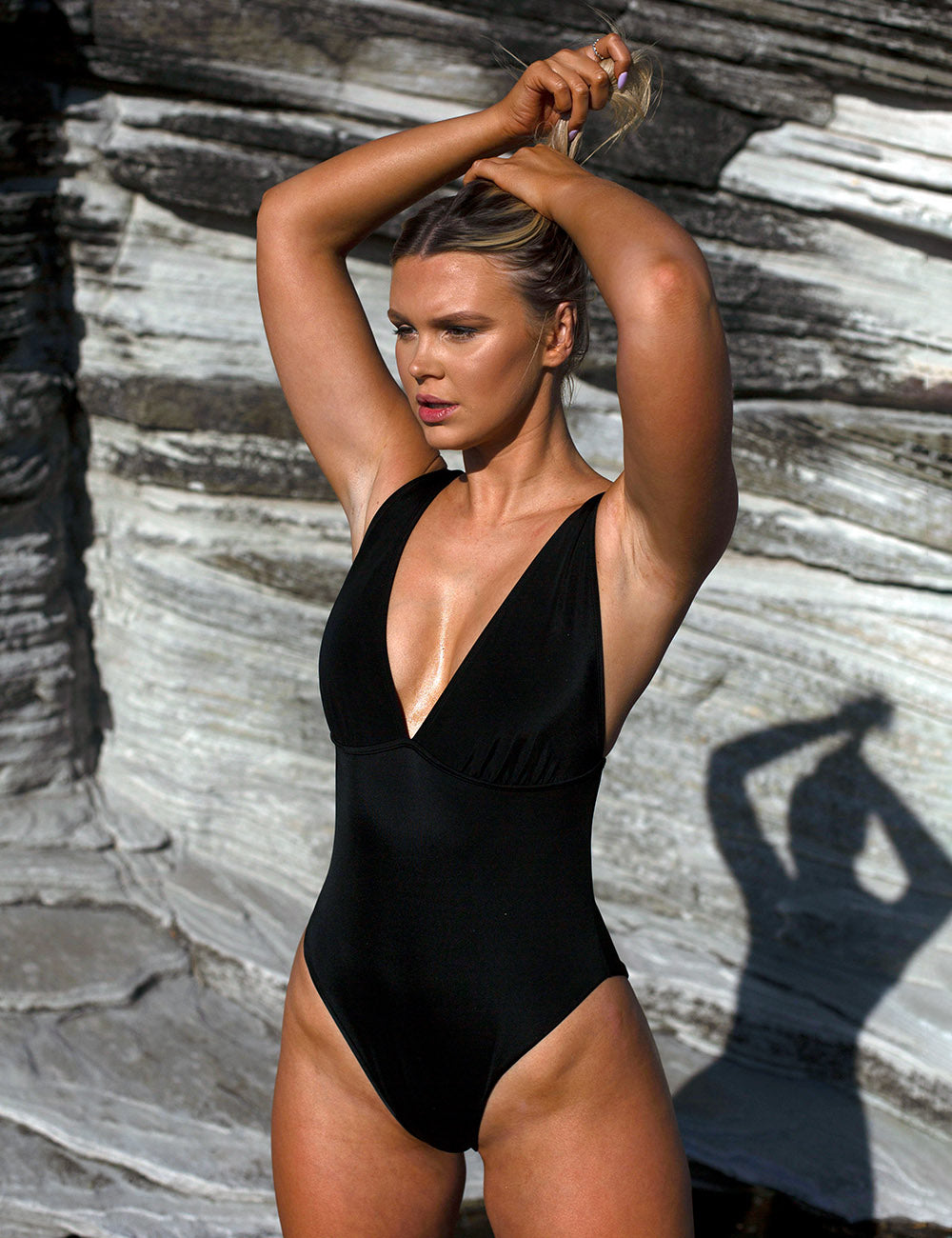 One Piece Swimsuit | Classic Black