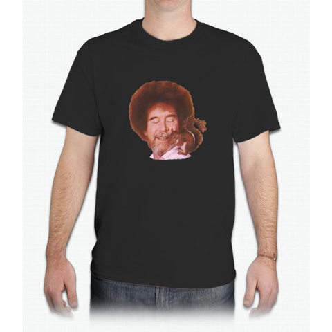 Bob Ross Loves All God's Creatures - Mens T-Shirt
