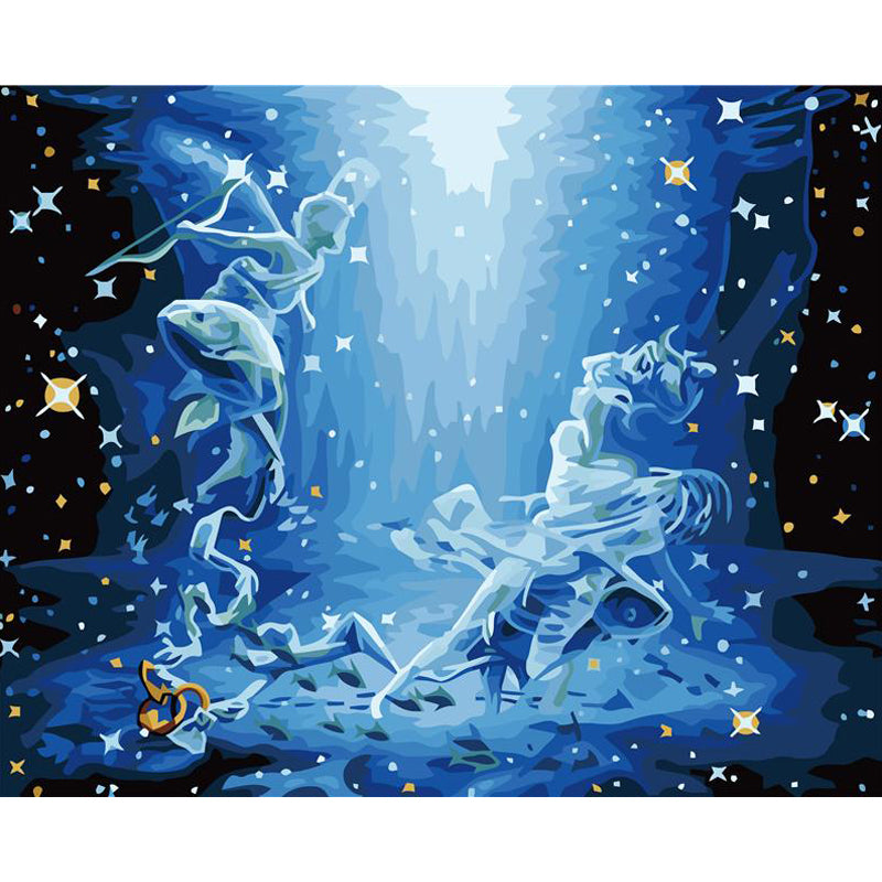 Diy Pisces Zodiac Sign Painting By Numbers Kit Bigbold Shop