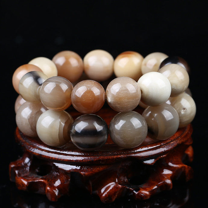 Tibet Natural Yak Horn Round Bracelet for Man