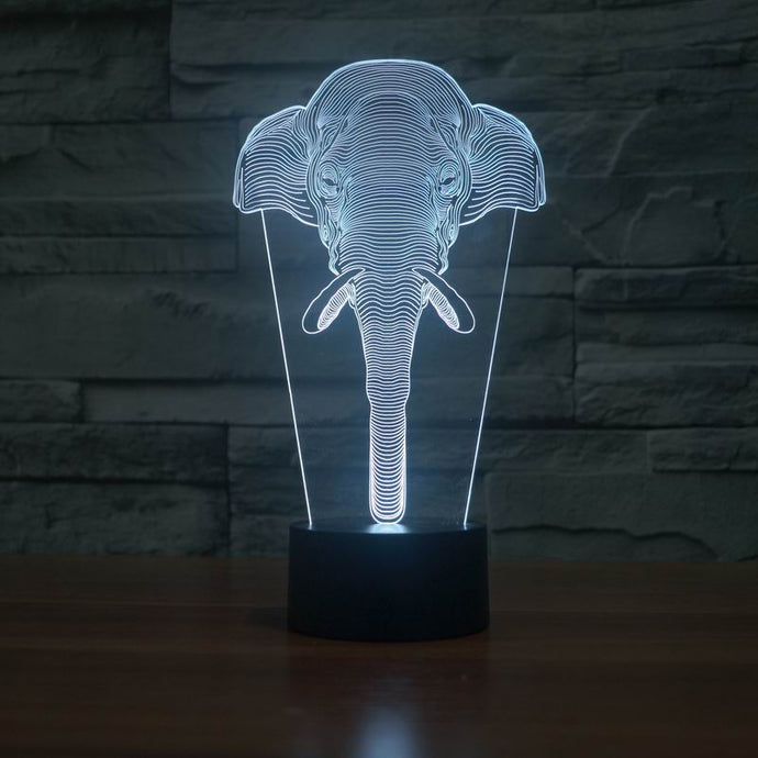Lamp 3D Hologram Illusion Elephant