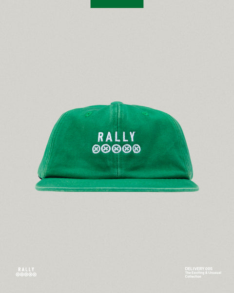 6 Panel Logo Hat - Washed Green