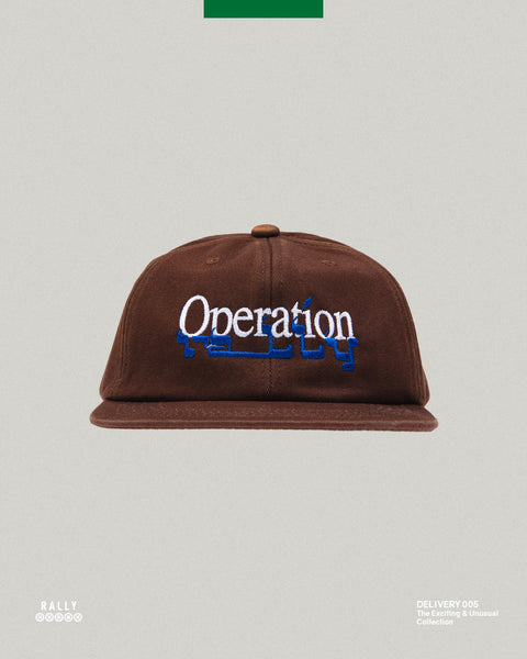 6 Panel Stacked Hat - Washed Brown