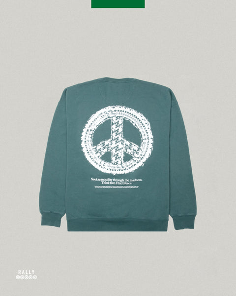 Master Peace Crewneck - Washed Cactus