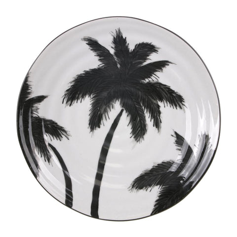 Jungle Porcelain Serving Plate Palms