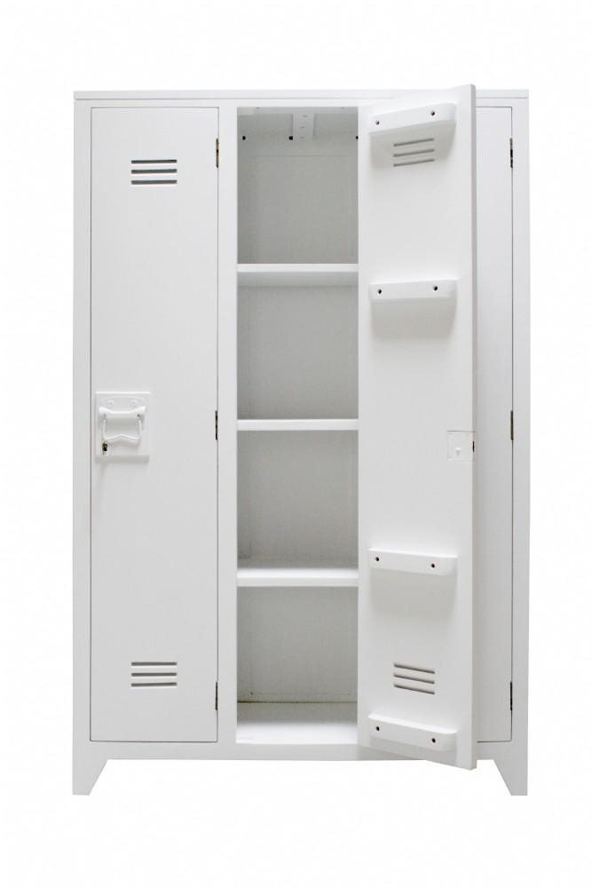 Locker wood white