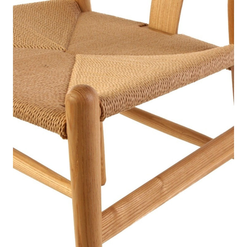 Wishbone Cord Dining Chair   Hans Wegner Replica   Beech